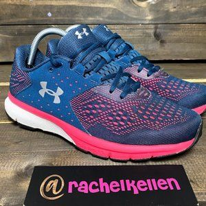 Under Armour Blue And Pink Women's Athletic Shoes